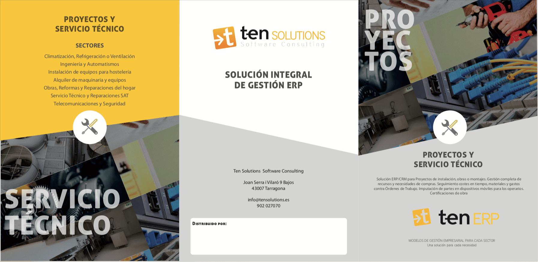 Proyectos y servicio técnico